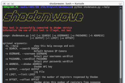 Shodanwave - Exploring and Obtaining Information from Netwave IP Camera