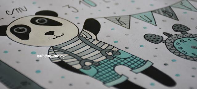obrázek pro miminko panda