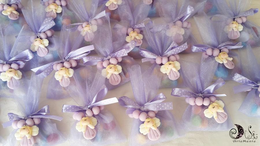 Amato DiLù Artemente: Bomboniere rosari con angelo lilla prima comunione  RS68