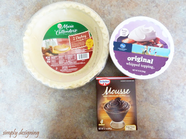 Dark Chocolate Truffle Mousse Pie | #pie #thanksgiving #holidayhelper #spon