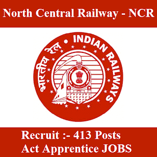 North Central Railway, NCR, NC Railway, RAILWAY, Railway, Apprentice, Act Apprentices, 10th, ITI, Uttar Pradesh, UP, Indian Railways, nc railway logo