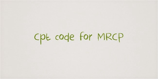 Remove confusion about Cpt code for MRCP