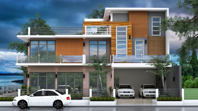 Home Plan 15x15m Sketchup Modeling 3D Elevation Design
