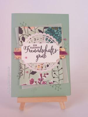Geteilte Leidenschaft - Stoffpapier - Karte - Tu was du Liebst - Basteln - diy - Stampin'Up! - Kartenbasteln