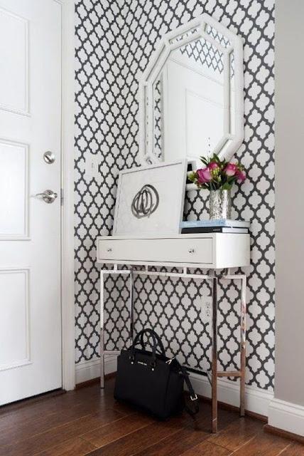 Ideas para decorar recibidores pequeños-4