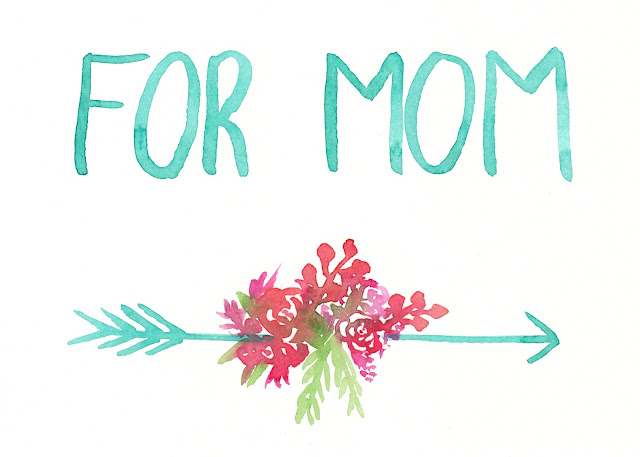 Mother's Day free watercolor printable for personal, non-commercial use- growcreative