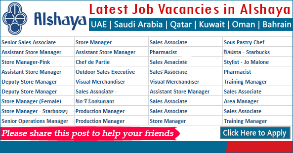 JOBS IN KUWAIT AT ALSHAYA GROUP GULF-UK-USA-CANADA-OTHER