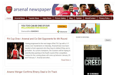Arsenal Newspaper blog