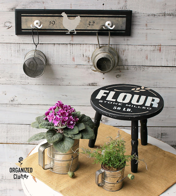 Fun Farmhouse Decor with Stenciled Thrifted Items