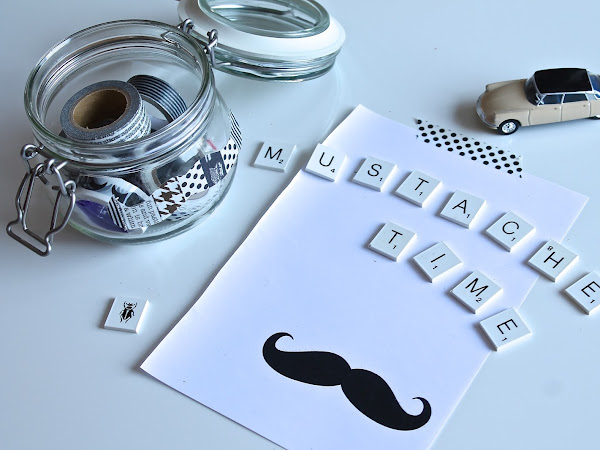 Sfida MY Washi Tape: Mustaches Time! / My Washi Tape Challenge: Mustaches Time!