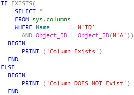 Oracle SQL & PL/SQL: SQL Server - Check If Column Exists In A Table