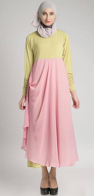 Contoh Baju Long Dress Muslimah