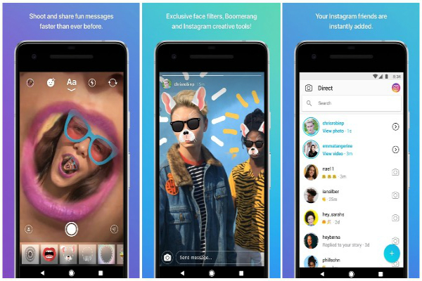 إنستغرام تكشف عن تطبيقها الخاص بالتراسل الفوري