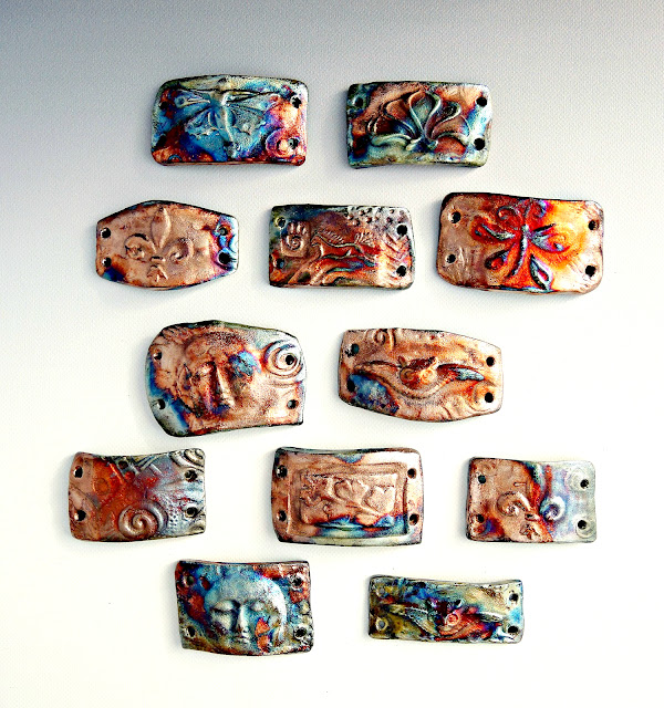 Raku bracelet bars from Star Spirit Studio.