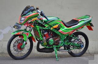 referensi modifikasi motor ninja r warna hijau