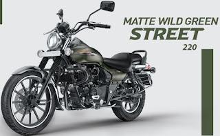 Bajaj Avenger street 220 Matte Wild Green color