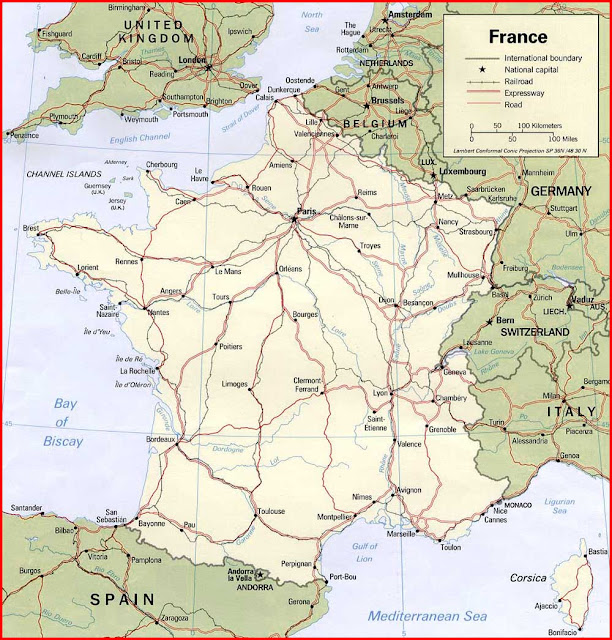 Gambar Peta politik Prancis