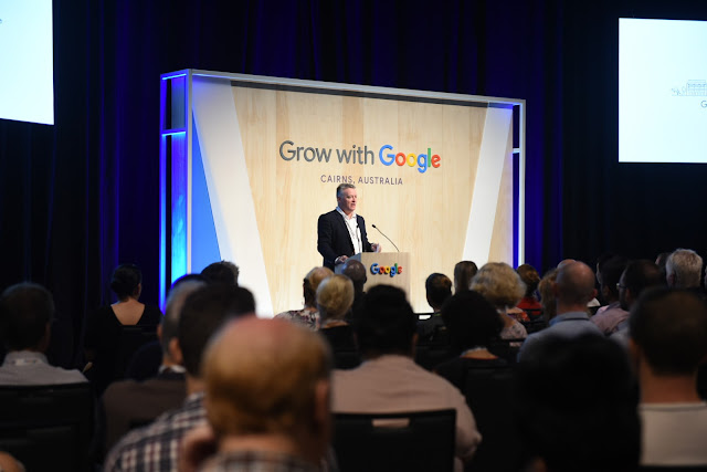 Queensland Member for Cairns, Michael Healy MP, speaking at the Grow with Google event