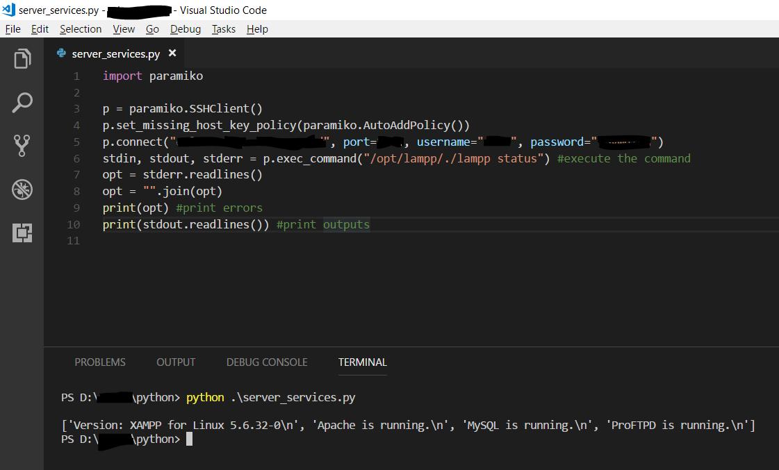 Python: Mengeksekusi Perintah Pada Server Melalui SSH
