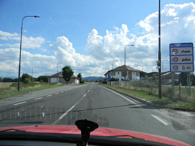 granica, tablica, droga, przejście graniczne