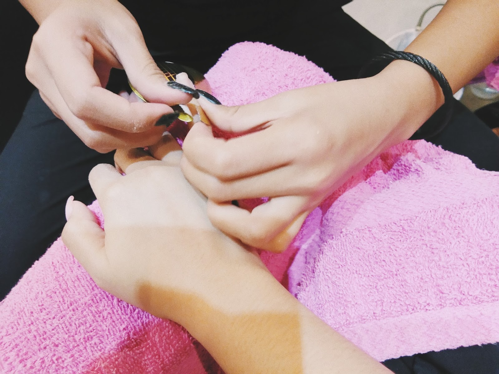 My First Nail Extensions!!+ Pamper Time 💜 Ayumi Japanese Lashes ...