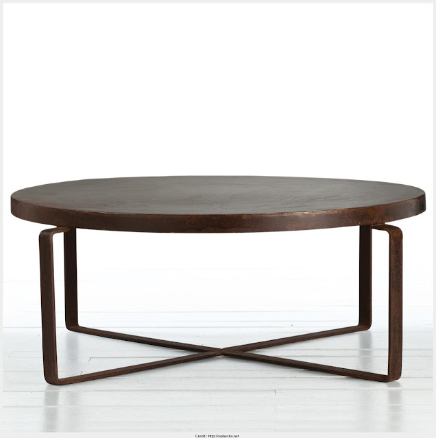 Marvelous Round Industrial Coffee Table HD