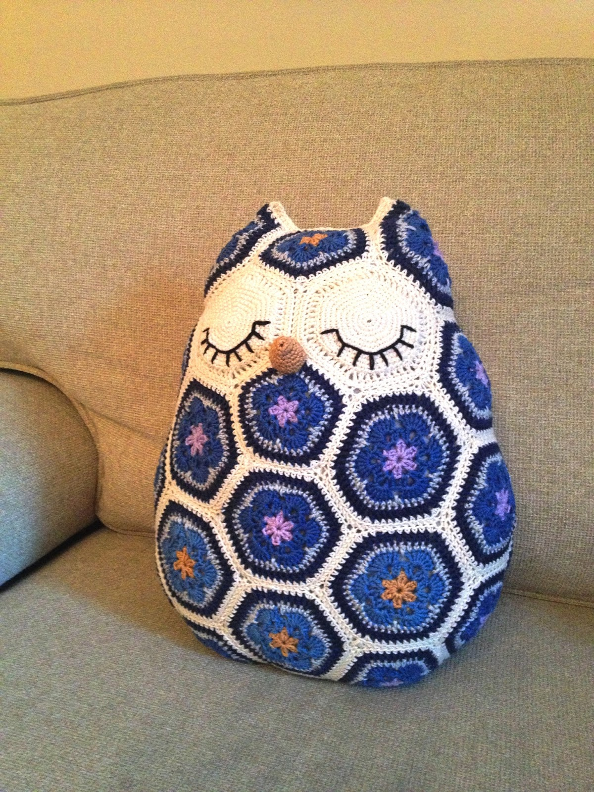 Birdy Quilts Uil Van African Flowers Owl Made Of African Flowers