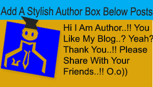 add author box below posts in blogger