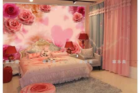 Wallpaper Dinding 3D Motif Bunga Mawar: Konsep Kamar Tidur Romantis WALLPAPER...