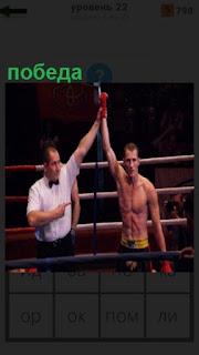 1100 слов рефери объявляет о победе боксера на ринге 22 уровень