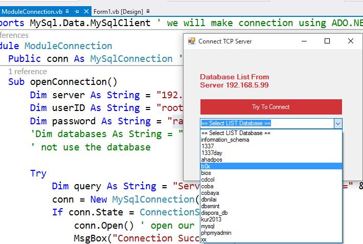 VB NET : Setup & Connecting to Remote MySQL Server   KODE AJAIB