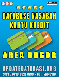 Jual Database Nasabah Kartu Kredit Bogor