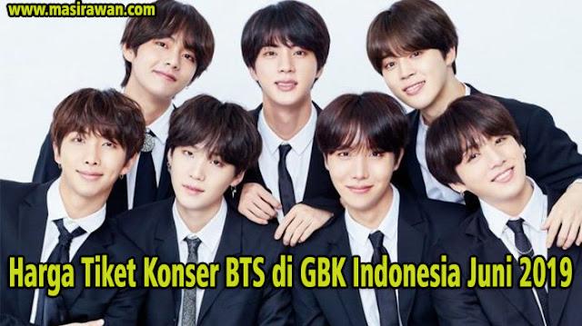 Harga Tiket Konser BTS di GBK Indonesia Juni 2019