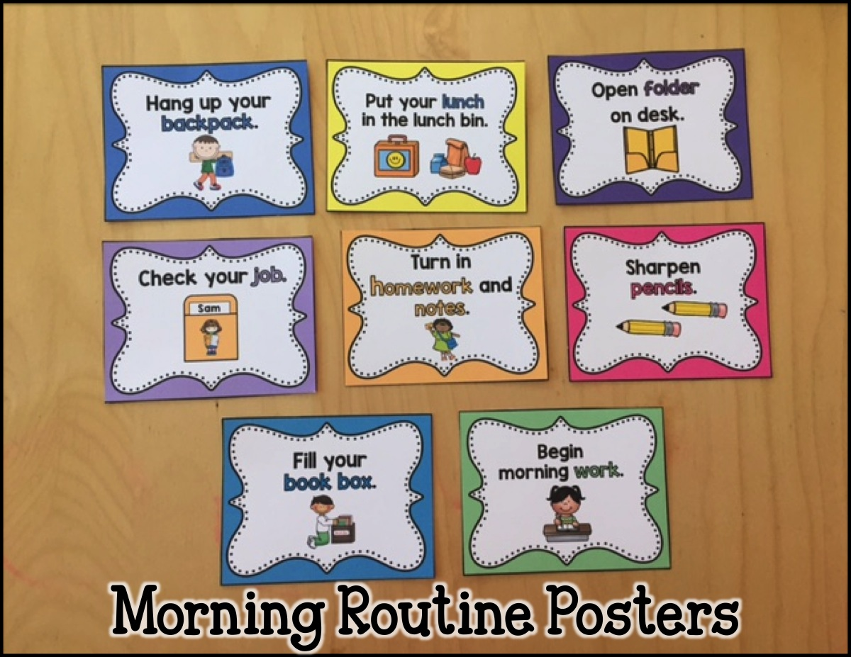 Primary Chalkboard: Establishing Your Morning Routine and