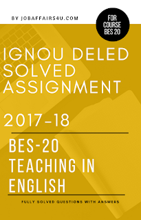 IGNOU DELED SOLVED ASSIGNMENT 2017-18 PDF