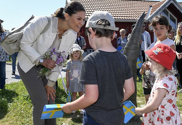 The tenth hiking of Crown Princess Victoria in the landscape of Sweden takes place in Bohuslän. Princess carried BY MALENE BIRGER Tote Bag