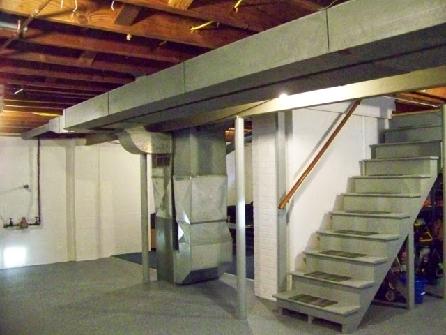 unfinished basement paint color ideas