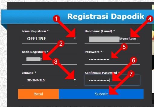 cara registrasi dapodik versi 2016