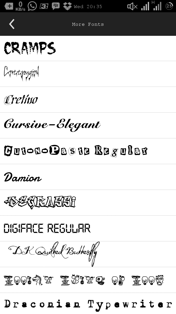 Download Download Kumpulan Fonts Unik Untuk Picsay Pro Atau PicsArt ...
