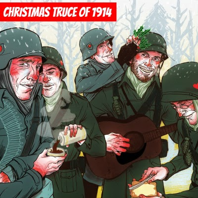 Christmas Truce of 1914 WWI one of the touching peaceful and humane moments of World War I via geniushowto.blogspot.com Christmas brings peace
