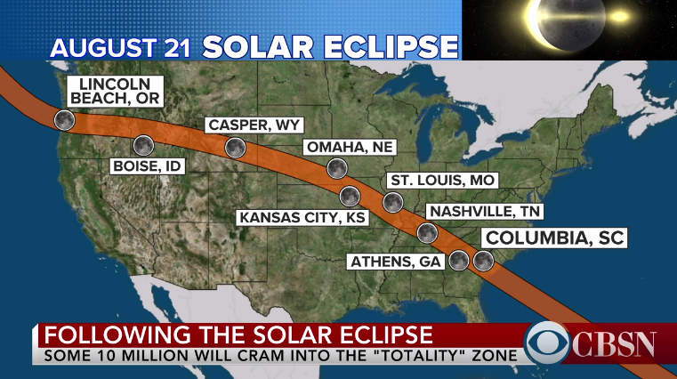 Total Solar Eclipse Mon Aug 21 | NEWS 24 - LIVE