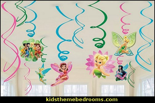 Tinker Bell & Fairies Swirl Decorations