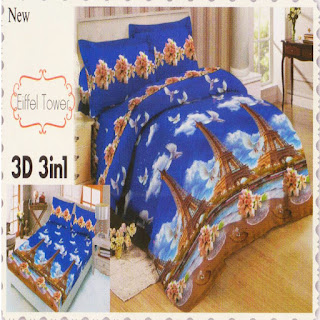 sprei 3d lady rose Eifel Tower