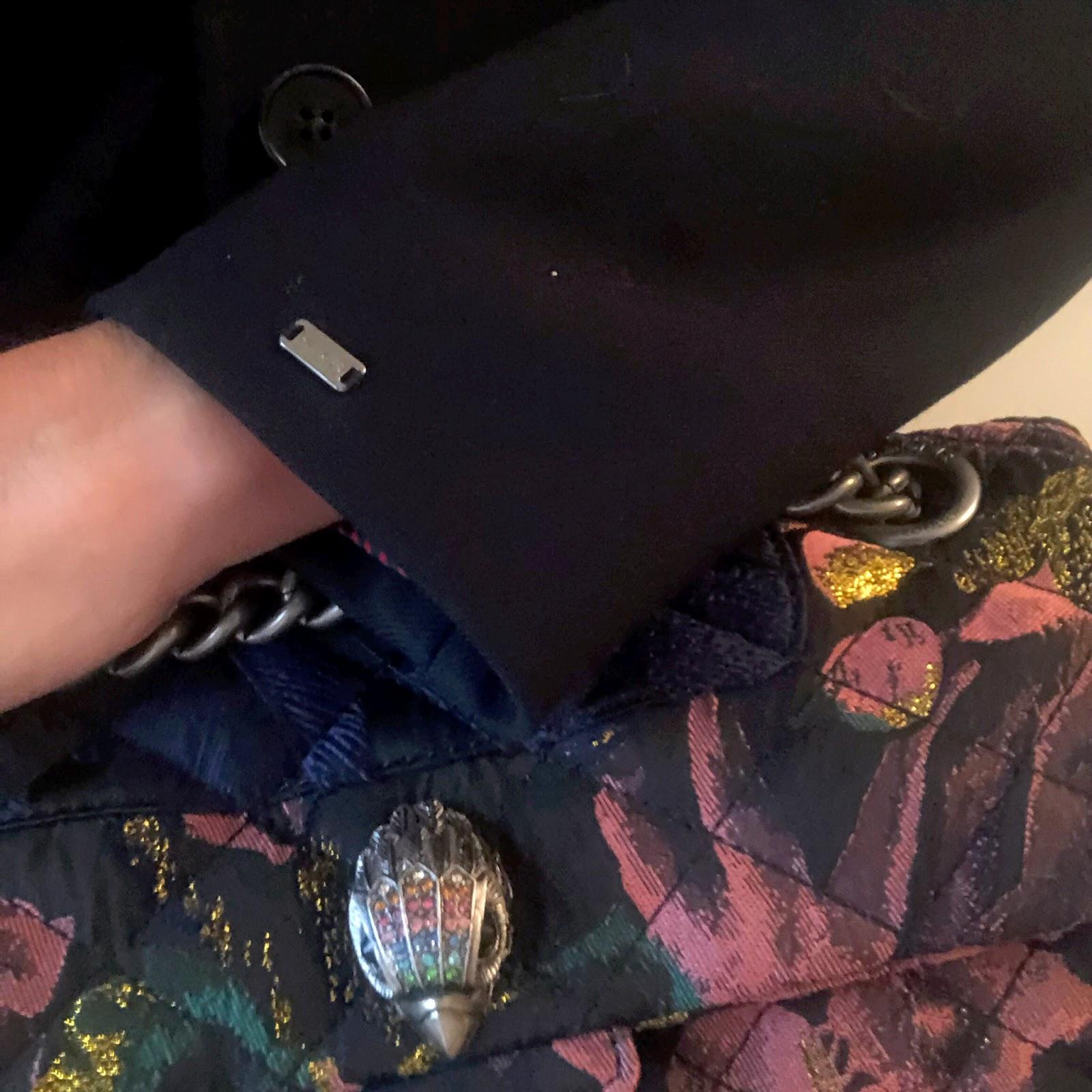 my midlife fashion, hobbs felt fedora hat, marks and spencer pure cashmere roll neck jumper, kurt geiger kensington fabric bag, tommy hilfiger celeste classic coat, j crew boyfriend jeans, marks and spencer stiletto heel ankle boots
