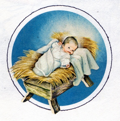 free clipart of baby jesus in a manger - photo #17