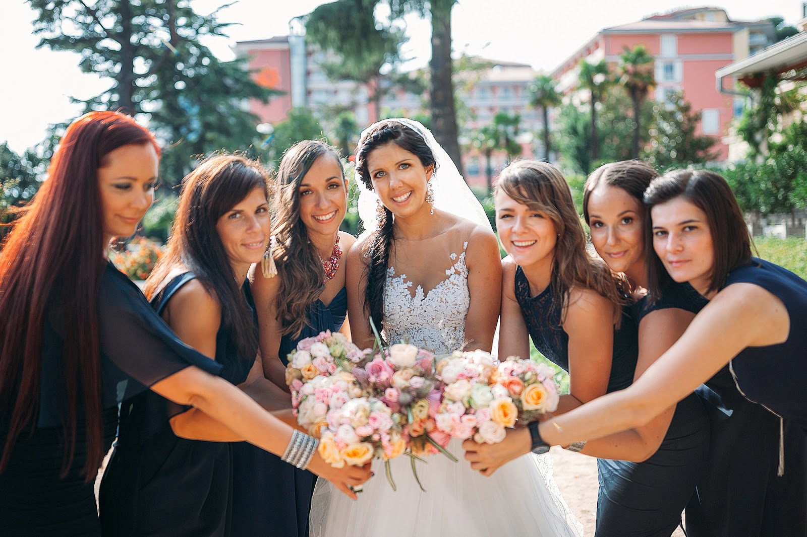 Navy wedding inspiration bridesmaids