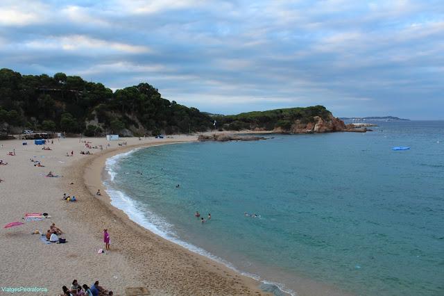 Platja de Sa Conca de S'Agaró, Costa Brava, Baix Empordà, Camí de Ronda
