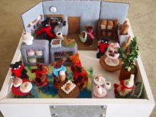 Felt Miniature: French Café