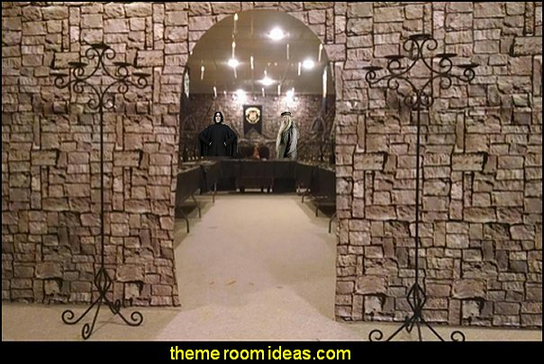 Castle Wall Backdrop  castle theme party decorating medieval harry potter themed party