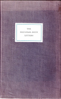 the cover of the first edition of the maugham duff letters 1982
